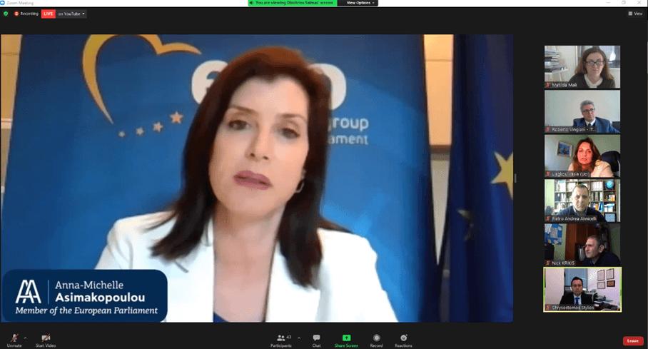 Η κα Άννα-Μισέλ Ασημακοπούλου, Μέλος του Ευρωπαϊκού Κοινοβουλίου